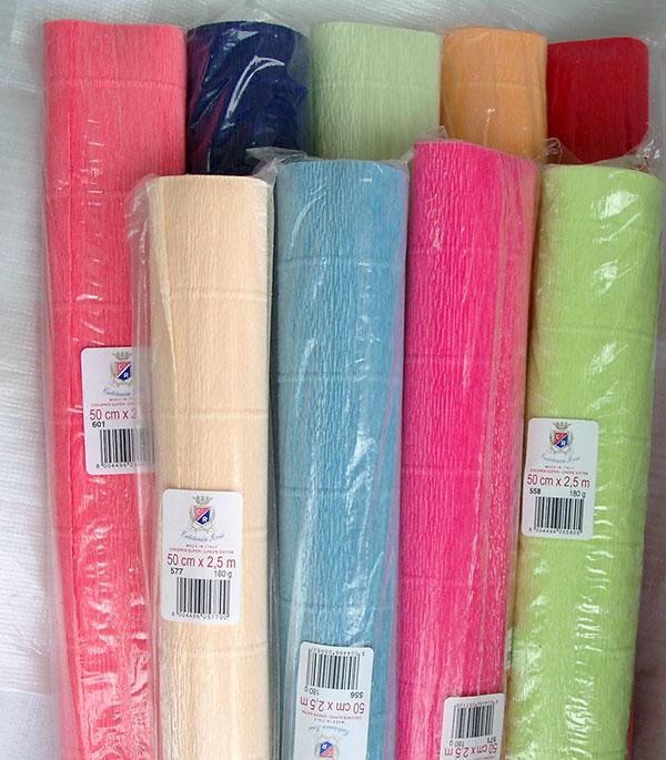 Разновидности гофрированной бумаги
