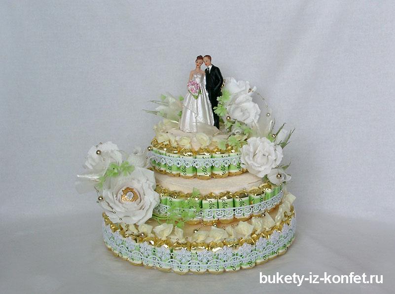 свадебные букеты из конфет