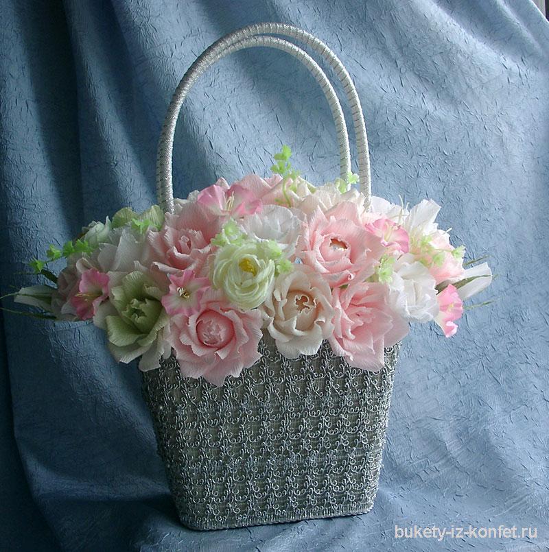 Фото как сделать корзину с цветами 111