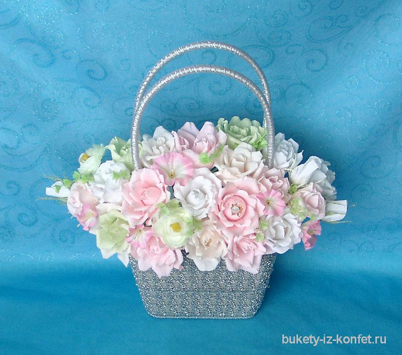 Корзина для цветов своими руками