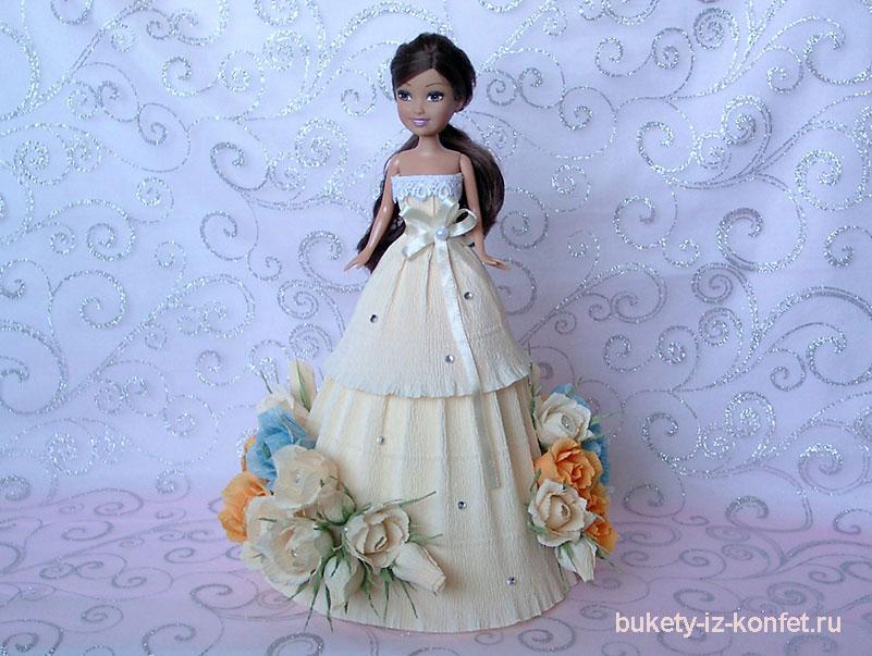 Кукла из конфет мастер класс
