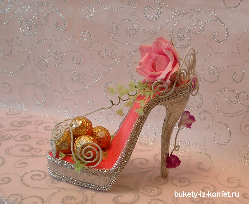 Как сделать туфли для конфет 155