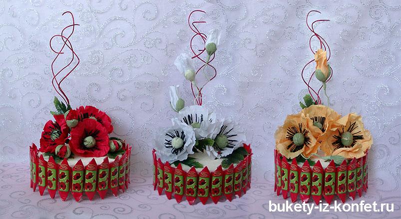 Украшение торта из конфет » Кулинарные рецепты с фото