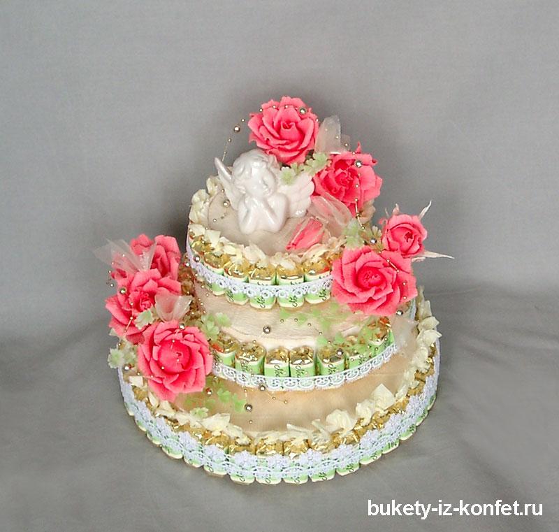 Как сделать торт из конфет с своими руками