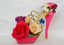 Туфли из конфет фото