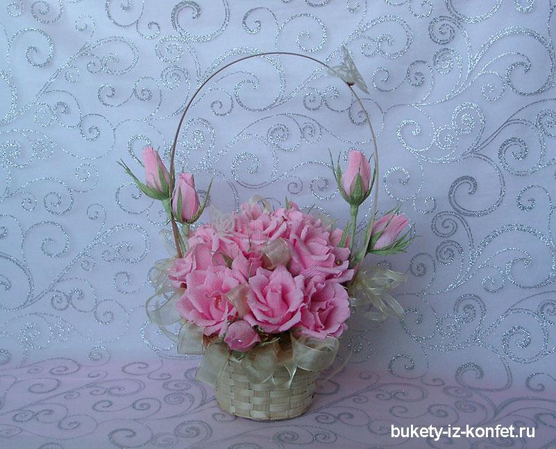 Сладкая композиция Бутоны роз Ярмарка Мастеров 90