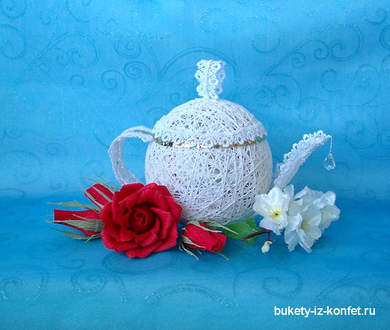 Чайники из ниток фото