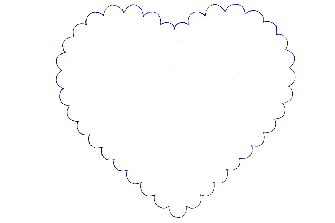 Сердце из конфет эскиз