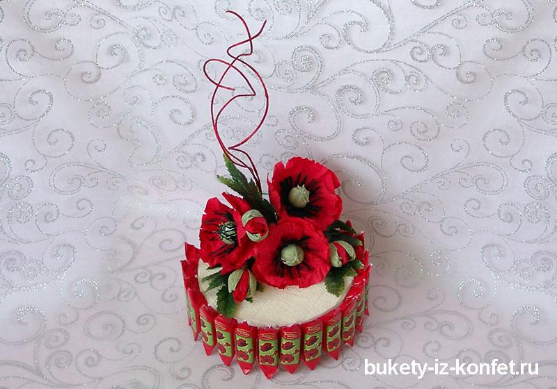 Торт с маками фото